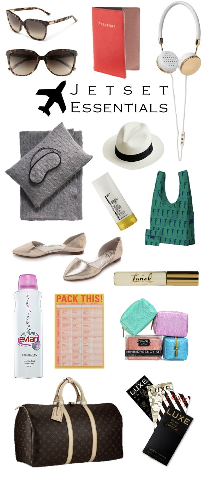 luxe travel essentials