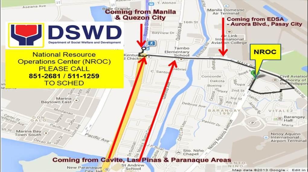 DSWD NROC map
