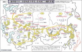 Répartition des camps par Murayama Tsunoe