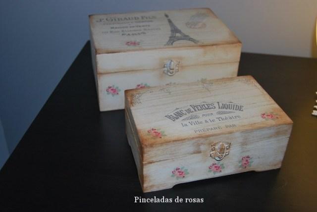 Cajas Vintage con transferencias (2)