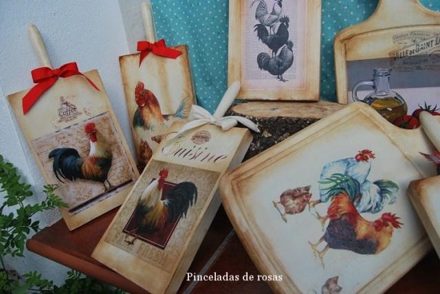 Mis tablas de mcocina decoradas gallos-gallinas (2)