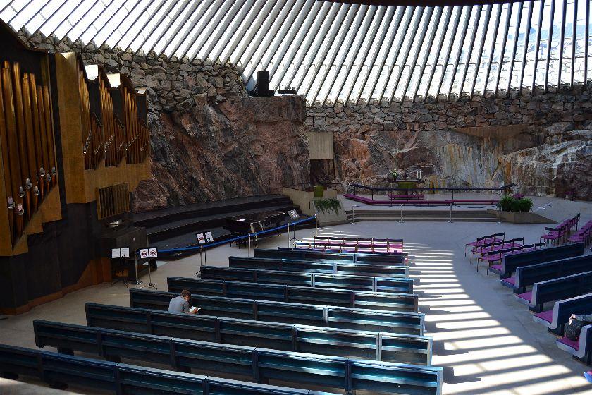 Temppeliaukio Church, Helsinki, Finlandia