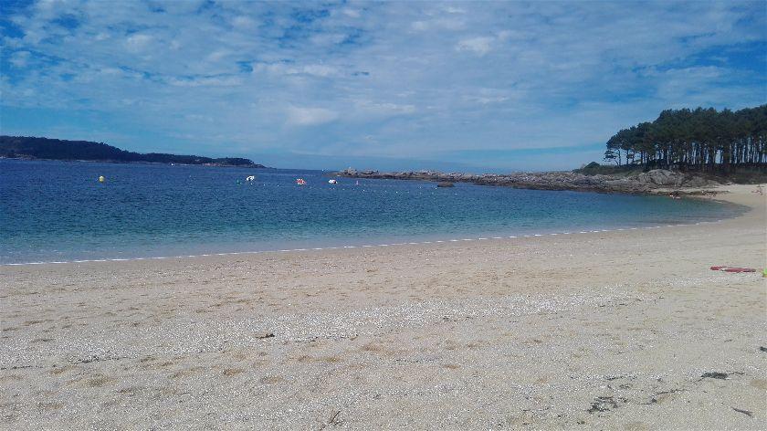 Playa Area de Bon, Bon de Arriba, Pontevedra, España