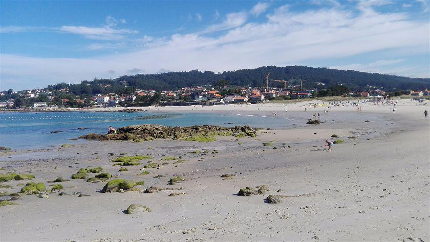 Playa de Áreas, Dorrón, Pontevedra, España