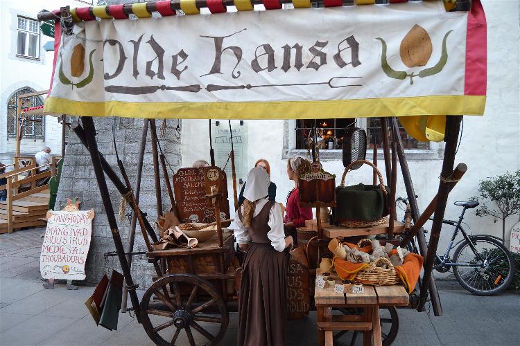 Restaurante Olde Hansa, Tallin, Estonia