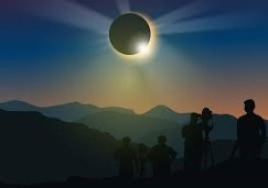 Рис. 1б. Солнечное затмение (иллюстрация).