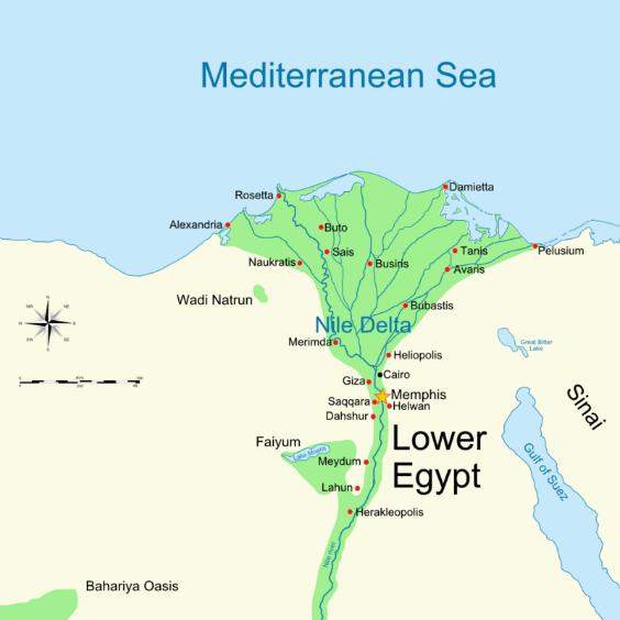 Рис. 10 В земле Гошен другой климат, чем в нижнем Египте, поэтому там не было града