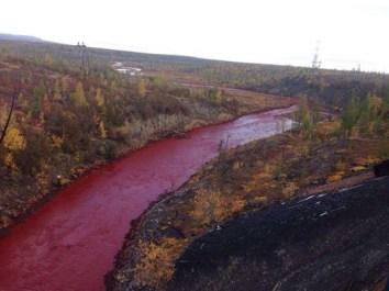 Рис. 7 р. Далдыкан (Сибирь), сентябрь 2016. Загрязнение железом