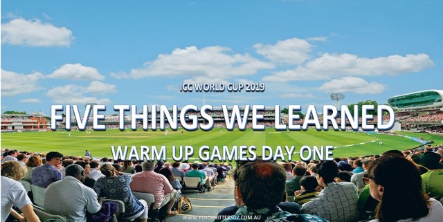 World Cup Warm-Ups Day 1: Five Things We Learned