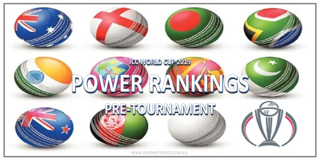 World Cup Power Rankings – Pre-Tournament