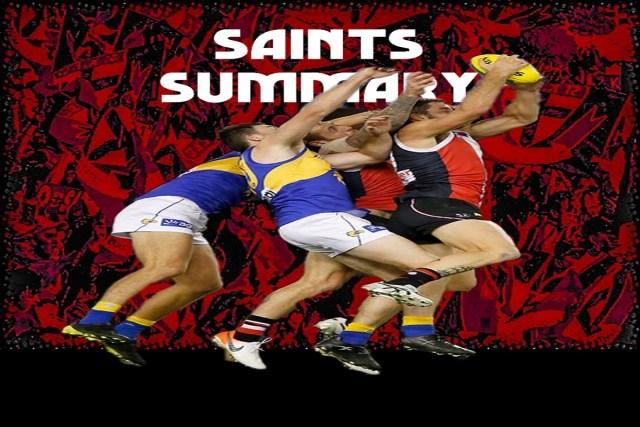Saints Summary – Half Full or Half Empty.