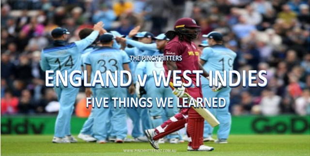 CWC19: West Indies vs England – Five Things We Learned