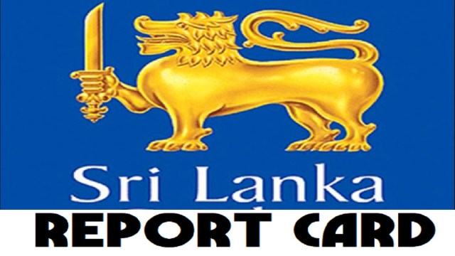 CWC19 Report Card for Sri Lanka