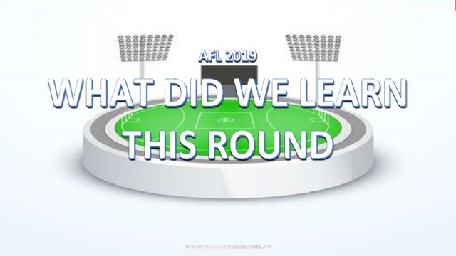 AFL 2019: Round 20 – What did we learn?
