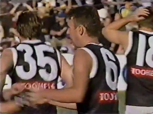 Daniel Healy after kicking his sixth goal against West Coast in 1998.