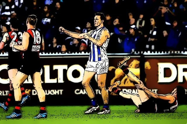 Drew Petrie channels his inner 'Frank the Tank' to help North Melbourne sink the Bombers in the 2014 Elimination Final. One of The Pinch Hitters Top Five Kangaroos Wins of the 21st Century.