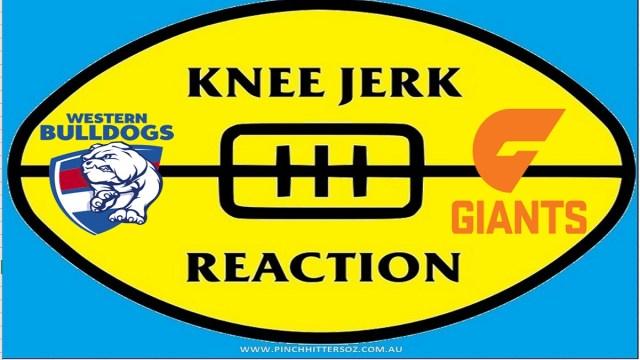 AFL 2020: Bulldogs v GWS – Round Three Knee Jerk Reaction
