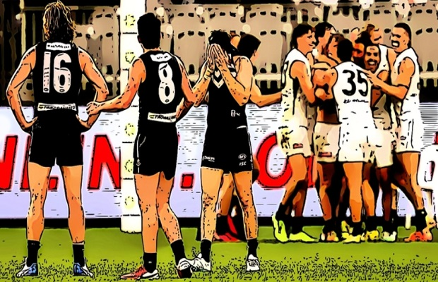 Incorrect descriptions of the down the field free kick rule being shared was what The Pinch Hitters disliked after Carlton's after the siren win over Fremantle in Round 12 of the 2020 season.