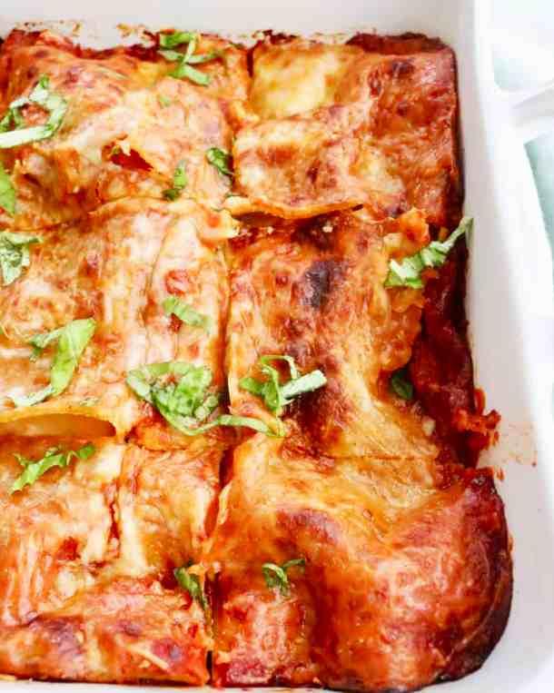 Skinny Lasagna Close Up