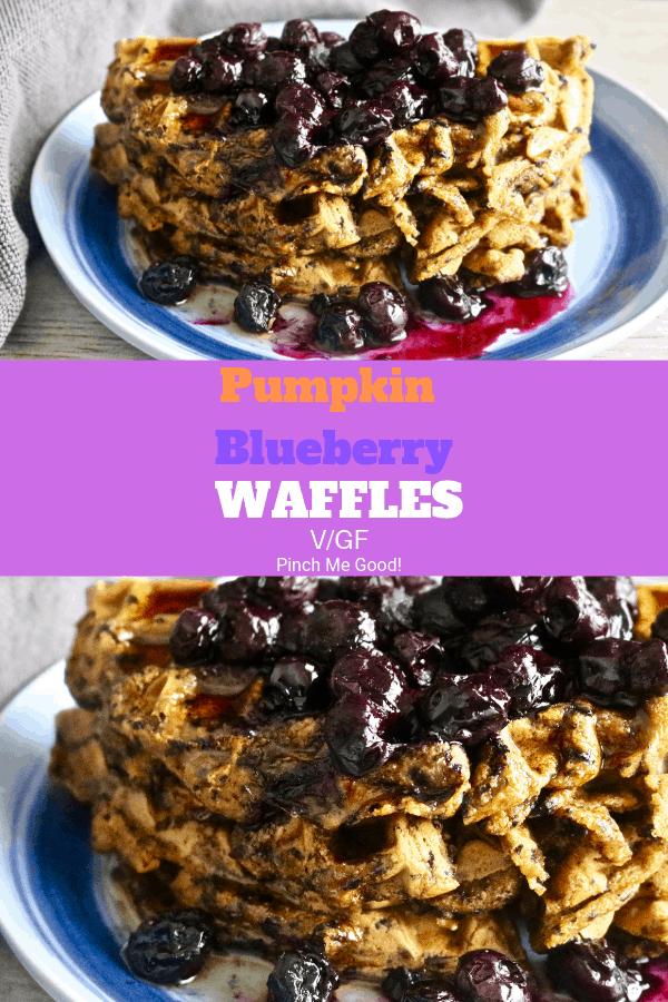 Pumpkin Blueberry Waffles - Vegan/Gluten-Free