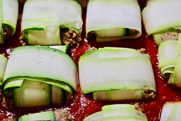 Zucchini Ravioli Baking Photo