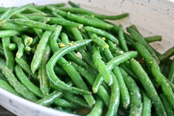 Close up of the Most Amazing Green Beans Ever