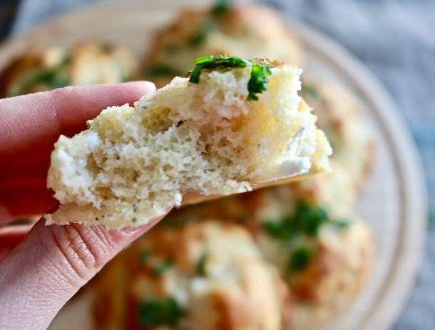Piece of Goat Cheese and Herb Biscuit