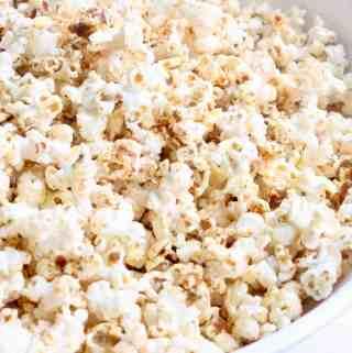 Close up of vegan popcorn
