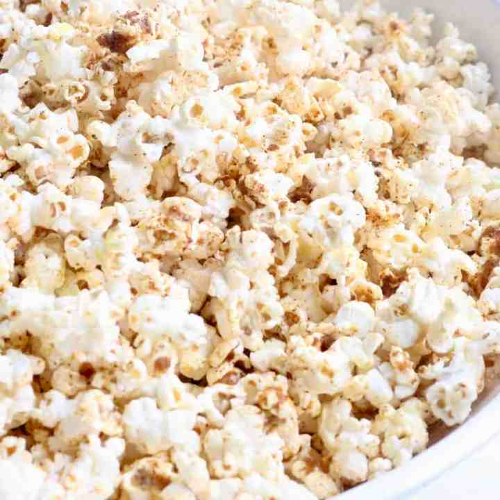 Close up of vegan popcorn