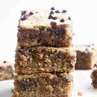 Stack of Almond flour blondies