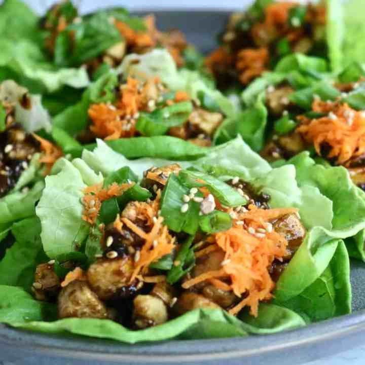 Asian Tofu Lettuce Cups
