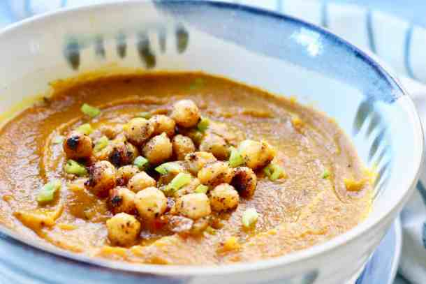 Bowl of Pumpkin Butternut Squash Soup