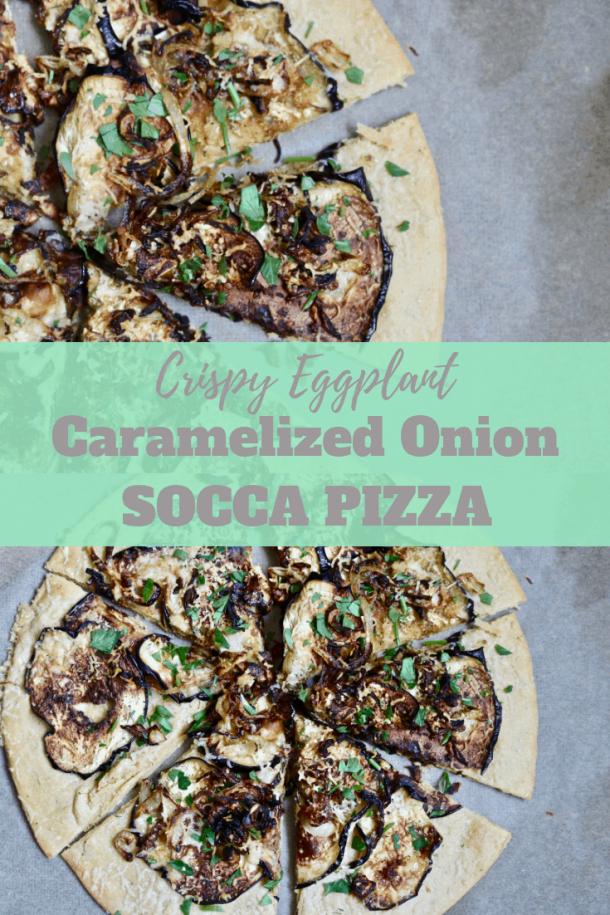 Crispy Eggplant Socca Pizza