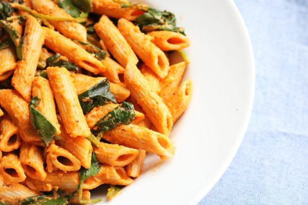Red Pepper and Kale Penne