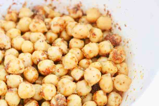Chickpeas with spices for mediterranean roasted chickpe salad