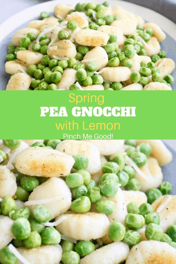 Spring Pea Gnocchi with Lemon - Vegetarian/Gluten-Free!