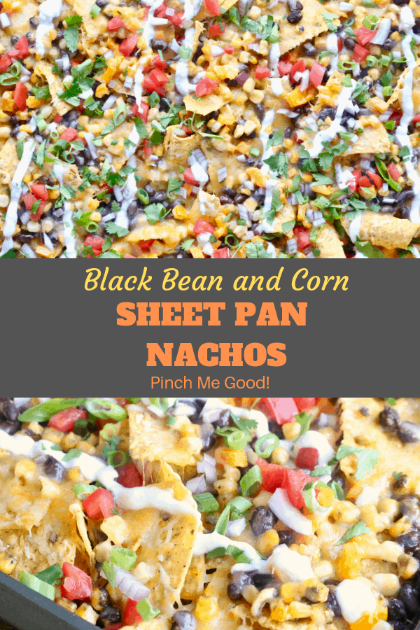 Black Bean and Corn Sheet Pan Nachos