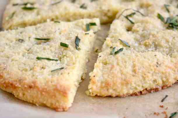 Slice of Low-Carb Gluten-Free Focaccia Bread