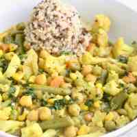 Vegetable Chickpea Coconut Curry