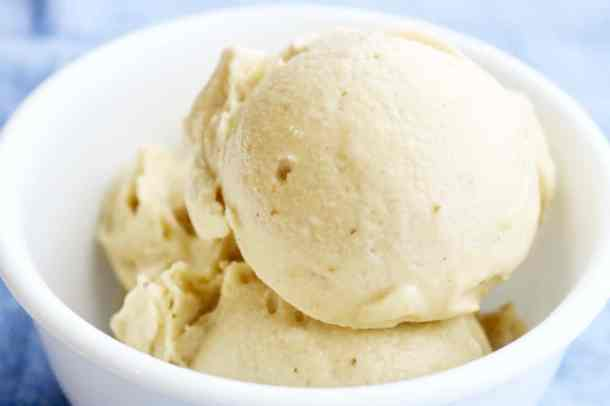 Dairy Free Banana Ice Cream in a bowl