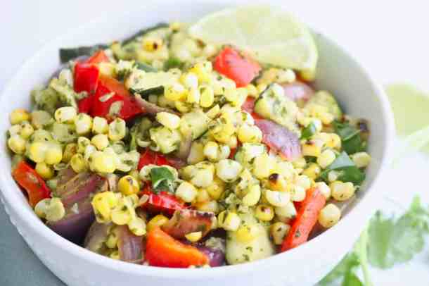 Corn Salad with Lime Dressing