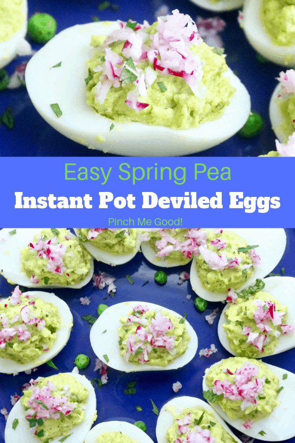 Easy Spring Pea Instant Pot Deviled Eggs