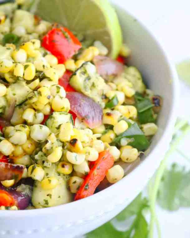 Grilled Corn and Zucchini Salad