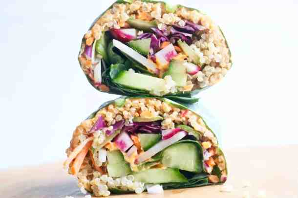 Veggie Collard Wraps