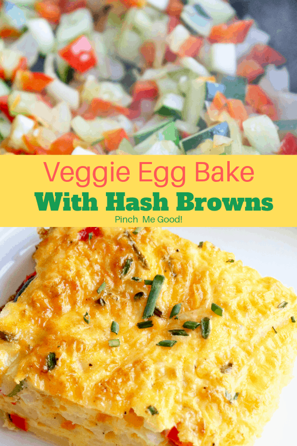 Veggie Egg Bake With Hash Browns