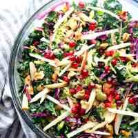 Autumn Chopped Kale Salad With Quinoa