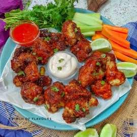 Air-Fryer Asian BBQ Cauliflower Wings - Vegan air fryer recipes