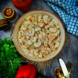 Masala Macaroni Salad - Macaroni Pasta Salad Recipes