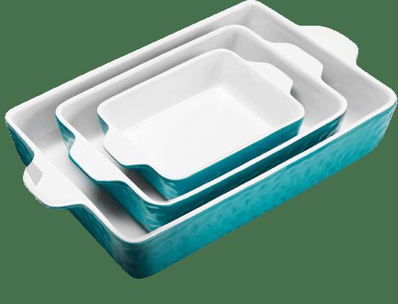 IPOW 3-Piece Ceramic Baking Dish