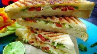 Veg Grilled Cheese Sandwich
